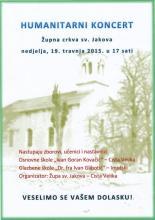 Humanitarni koncert, 19. travnja 2015. u 17:00 sati
